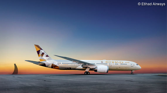 Mit Etihad Airways nach Abu Dhabi