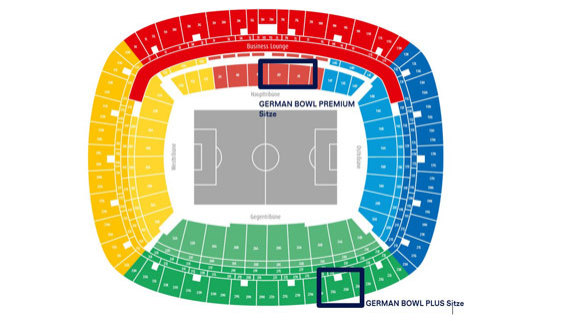 Sitzplan German Bowl Tickets | Commerzbank Arena